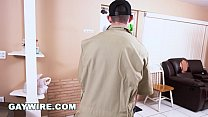 Gaywire - Mover Fucks Client Raw While The Girlfriend Is Home! Omg