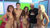 Young fan has fun with three pornstars - Alliso...