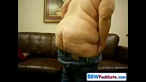 Fat ass Amer ican BBW banged on the couch
