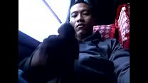 gay indonesian jerking outdoor on bus