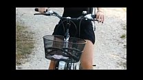 Public Nudity Bicycle Riding Babe