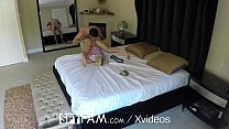 SpyFam Stepdaughter Kenzie Reeves sneaks her girlfriend in on New Years - xxx sexy porn thumbnail