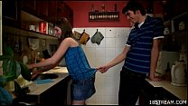 Amorous and wild kitchen sex pornhub video