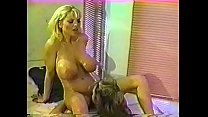 Blonde bends over and gets finger fucked by a hot big breasted lesbian