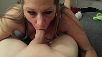 Gorgeous MILF squirting on big dick