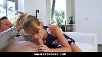 FamilyStrokes - Cute Stepdaughter Punished By Her Stepdaddy and Mom Image