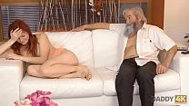 DADDY4K. Man joins dirty sexual games of his naughty girl and old dad