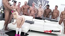 Petite Kira Thorn gets the GANGBANG of her life...