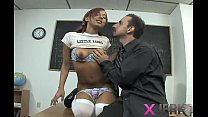 Bad schoolgirl gets taught a lesson