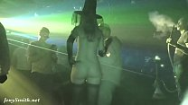 Crazy Halloween bottomless. Upskirt and real hidden cam in night club by Jeny Smith