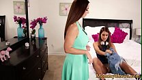 Petite stepdaughter tribbing her stepmom preview image