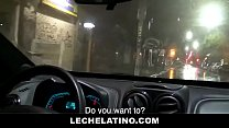 Young Latin Taxi Driver Takes RAW Cock And Sucks - LECHELATINO.COM