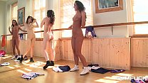 Gym fuck makes lesbian teens Amirah & Candy Sweet cum hard with sex toys
