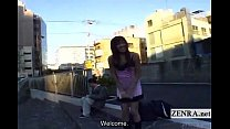 Subtitled extreme Japanese public nudity outdoor blowjob - 9Club.Top