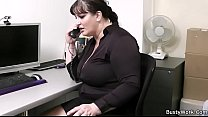 Boss fucking busty working woman on the table