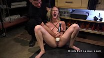 Blonde slave trains deep throat fuck preview image