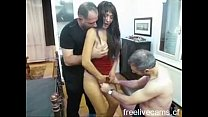 Mature gangbang cum slut double teamed