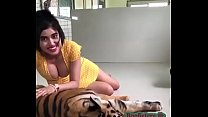 Desi girl Boobs with lucky Tiger