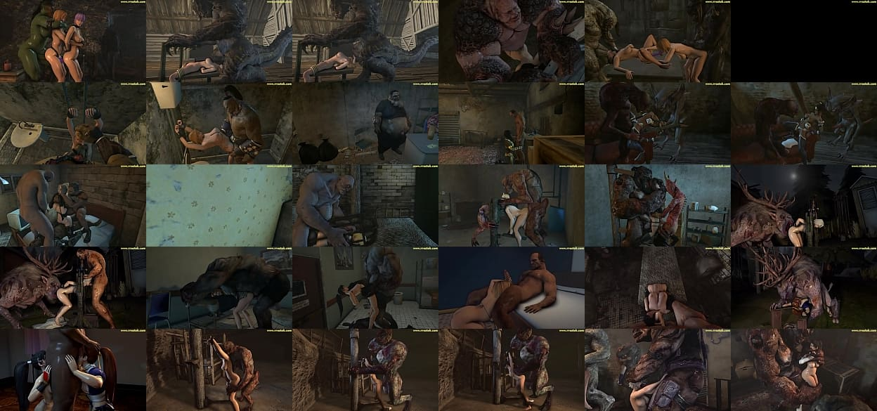 DOA5 females getting fucked hard by ugly monsters 3D Porn 预览图
