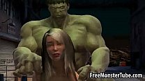 Foxy 3D babe ge ts fucked by The Incredible Hu e Incredible Hulk high 2