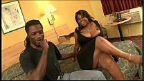 Chubby slut Mocha sucking dick after getting her pussy licked by a black stud