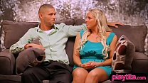 Married amateur couple trying a threesome for the first time