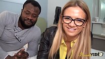 Arab teen Angelica tries black guys for the first time
