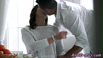Glamour babe buttfucked by lover image