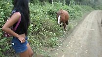 Thai Teen Peru to Ecuador horse cock to creampie thumbnail