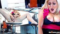 Office blonde caught by boss masturbating and squirting on the table | CHAT WITH ME at blondikva.hot4cams.com