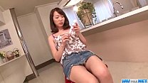 SErious toy insertion scenes for hairy Hitomi Oki image