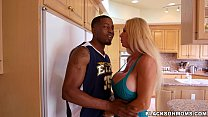 Horny MILF takes on 2 basketball studs on Black... thumb