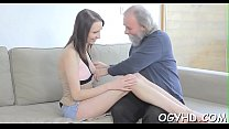 Cute juvenile gal fucked by old boy Thumbnail