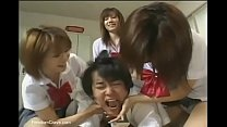 Japanese high school girls abusing new student thumb