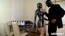 Download video bokep Latex Goddess Latex Lucy gets Boxed & Fucked Hard 3gp terbaru