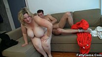 Big tits blonde spreads legs for stranger