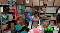 Blonde And Brunette Teens Get Fucked By Security - SHOPFUCK