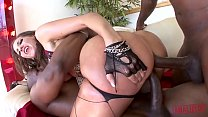 KELLY DIVINE GETS DESTROYED IN ROUGH INTERRACIAL ANAL FUCK FEST