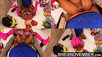 10368 Missionary Hardcore Sex Fucking Sexy Black Babe Pussy Closeup POV Big Titties Held, Msnovember Intense Fuck By Old BBC Pushing Her Tiny Legs Up With Multi View Dominating Her Little Body 4k Sheisnovember preview