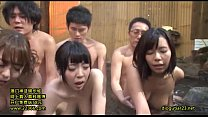 Japanese married women of big milk has sex in a hot spring