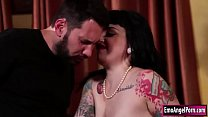 Horny ink babe sucks and fucked by bf