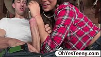 Teen Gabriella is amuse to a big cock cowboy an...