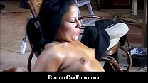 Brunette spanked and fucked for being lazy preview image