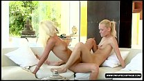 Jenny M in the Private lesbian Casting's Couch with Keana Moire