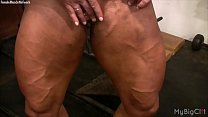 Female Bodybuilder Lisa Cross Plays with her Fucking Big Clit Thumbnail