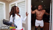 BANGBROS - Vickie Starxxx Bounces Her Black Big Ass On Prince Yahshua's BBC