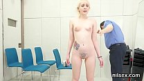 Slutty nympho is taken in anus asylum for uninhibited treatment