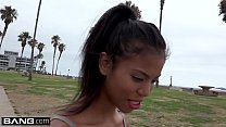 Barely legal Ebony teen Nia Naccis tight pussy gets stretched image