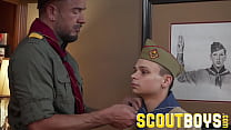 ScoutBoys Older daddy fucks Austin Young in front of his friend