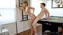 Petite Adria Rae Takes Big Cock On Daddy's Pool Table S28:E9